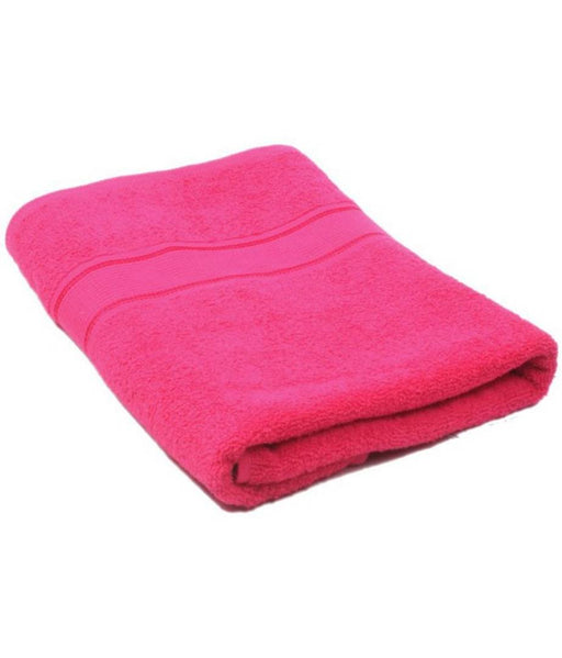 cotton bath towel set of 1 pink