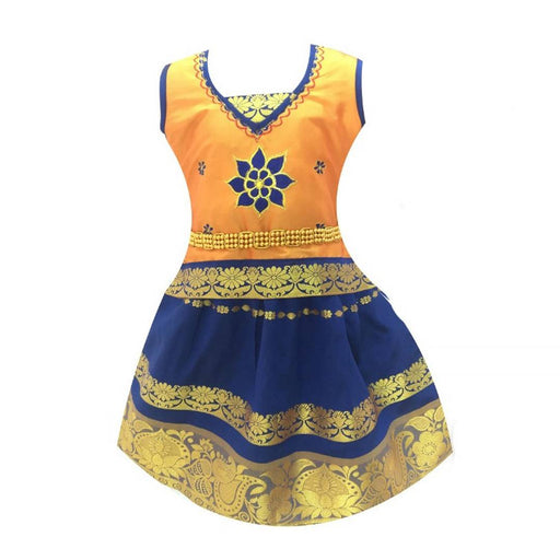 Girl's Fancy Silk Blend Lehenga Choli