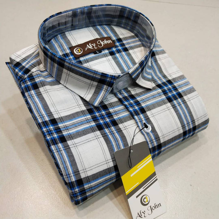 Men's Multicoloured Cotton Checked Long Sleeves Regular Fit Casual Shirt