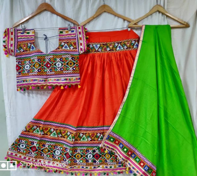 Women's Cotton Navratri Dandiya Night Special Chaniya Choli