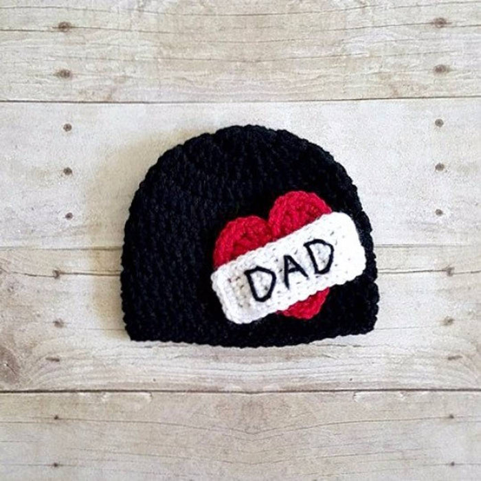 Stylish Black Wool Woven Design Kid's Cap