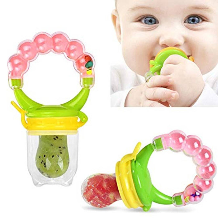 Shopiieee Baby's Portable Nipple Silicone Pacifier Feeder (Multicolour) - Pack of 1