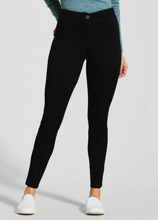 Women Solid High Waist Black Jeans