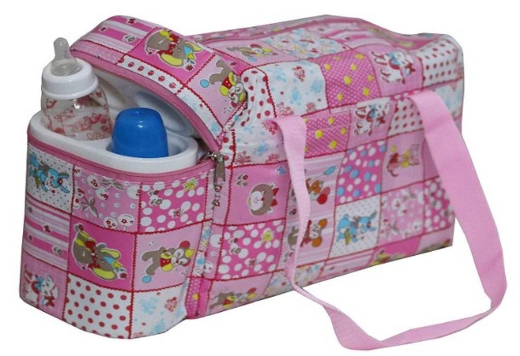 Baby Diaper Bag with Bottle Warmers or Nappy Changing Bag with 2 Bottle Warmers