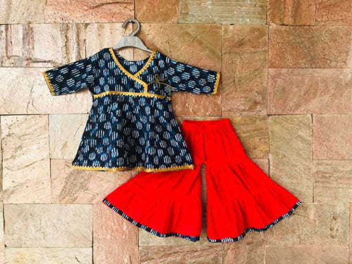 Trendy Anarkali Kurti Sharara Set For Girls