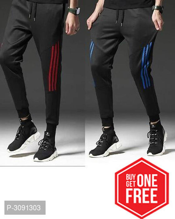 Buy One Get One Free Men's Comfy Voguish Polyester Track Pants