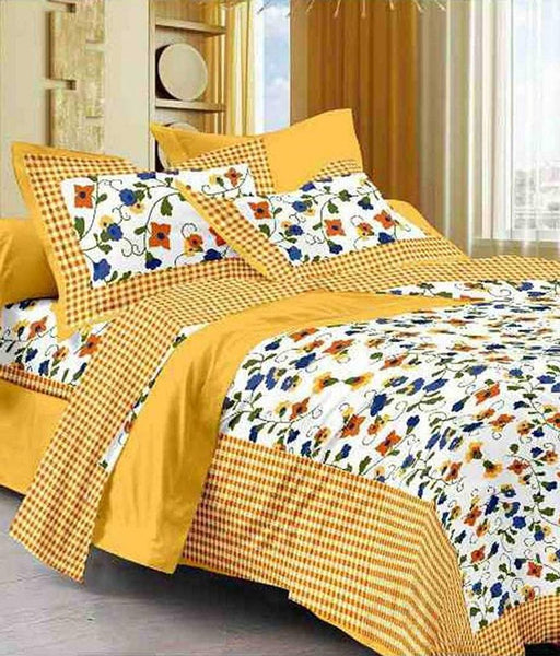 Cotton Printed Queen Size Bedsheet with 2 Pillowcovers