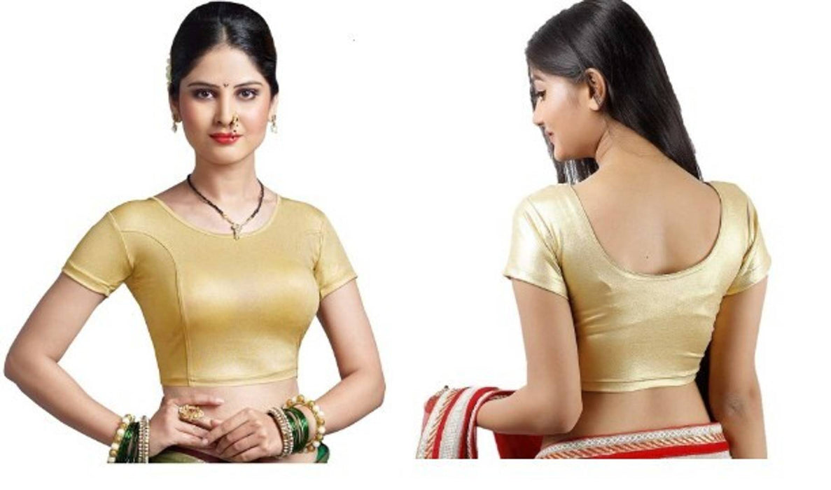 Cotton Spandex Women's Simmer Readymade Stretchable blouse for saree