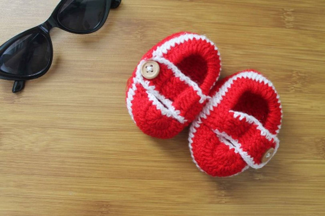 Beautiful Woolen Booties For Baby