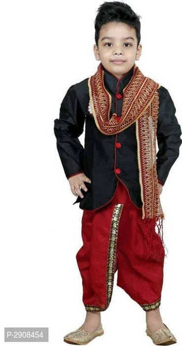 Boys Festive & Party Kurta, Dhoti Pant & Dupatta Set