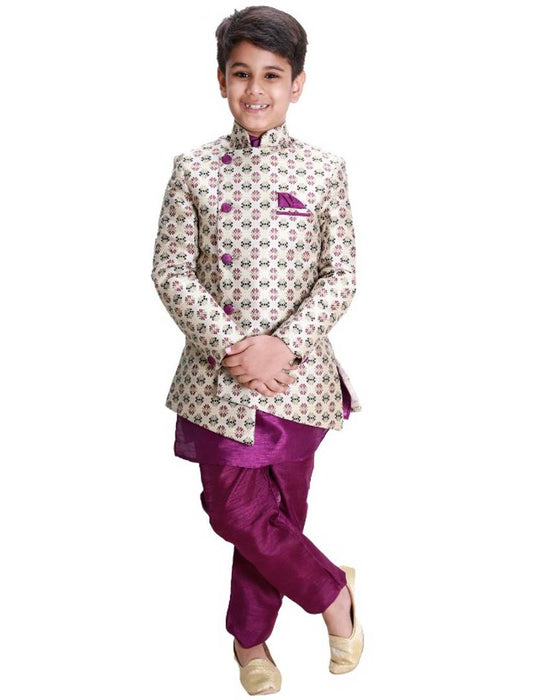Fab Kid's Cotton Blend Indo Weatern Dress with Kurta Pyjama for kids