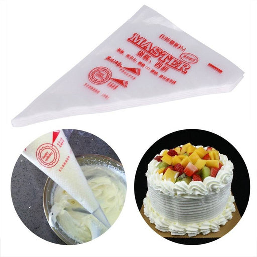 Plastic Disposable Decorating Icing Bags Cream Cake Pastry Bags 30 cm, Pack of 100 bags