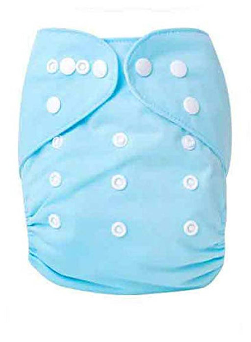 1pc Adjustable Reusable Baby Washable Cloth Diaper Nappies with Wet-Free Inserts for Babies of Ages 0 to 2 Years - Blue