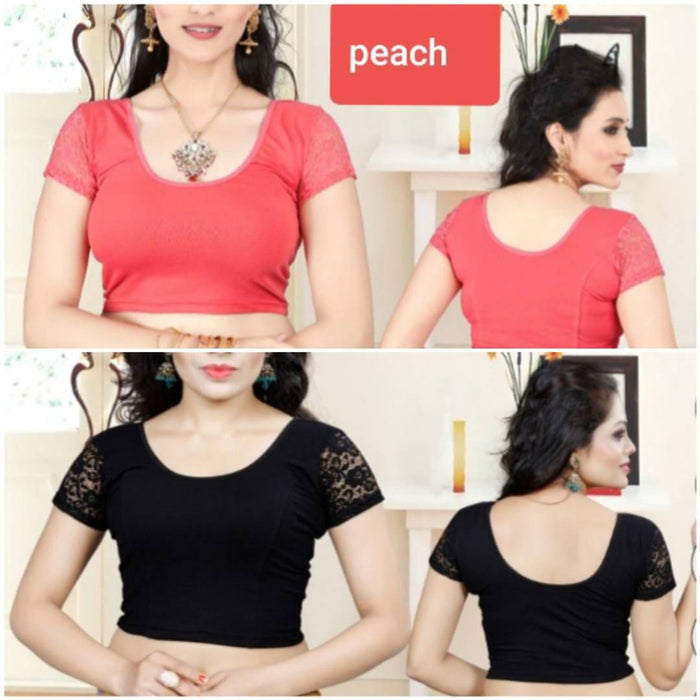 COMBO PACK OF 2 READYMADE STRETCHABLE BLOUSE