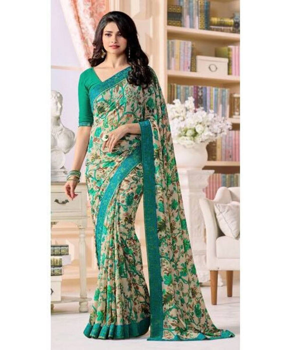 Latest Beautiful Georgette Saree With Blouse Piece