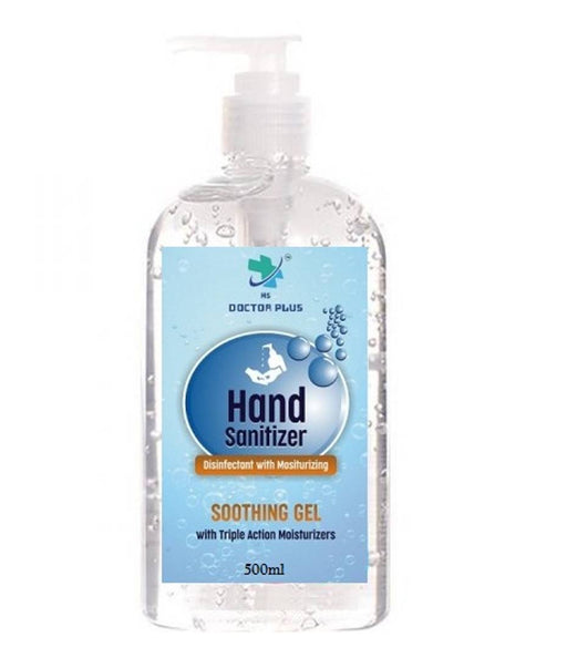 HS Doctor Plus Hand Sanitizer Soothing Gel with Triple Action Moisiturizers (500ml)