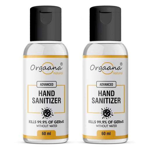 Orgaana Natural Hand Sanitizer Germs Free For Hand Bottle Pack Of 2 (60 ml)