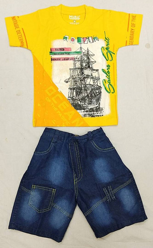 Boys Top and Bottom T-shirt and Pant Clothing Set