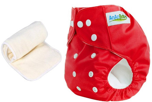 Cloth Diaper With 4 Layer Microfiber Insert Washable Adjustable and Reusable.