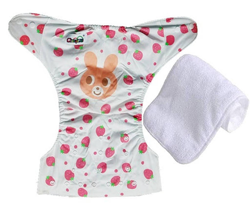 Printed Washable Reusable Adjustable Cloth Diapers With Absorbing Insert Pad