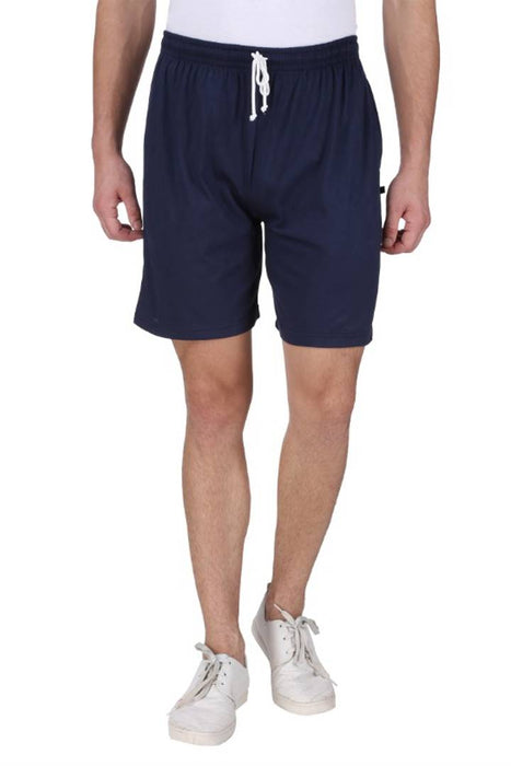 Men's Cotton Long Shorts for All Fitness Activities. (NAVY BLUE).