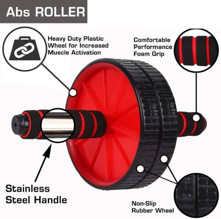 AB Roller Balance Wheel Abdominal Wheel Exerciser for Abs & Body Workout Fitness(Color may vary)(Pack of 1)