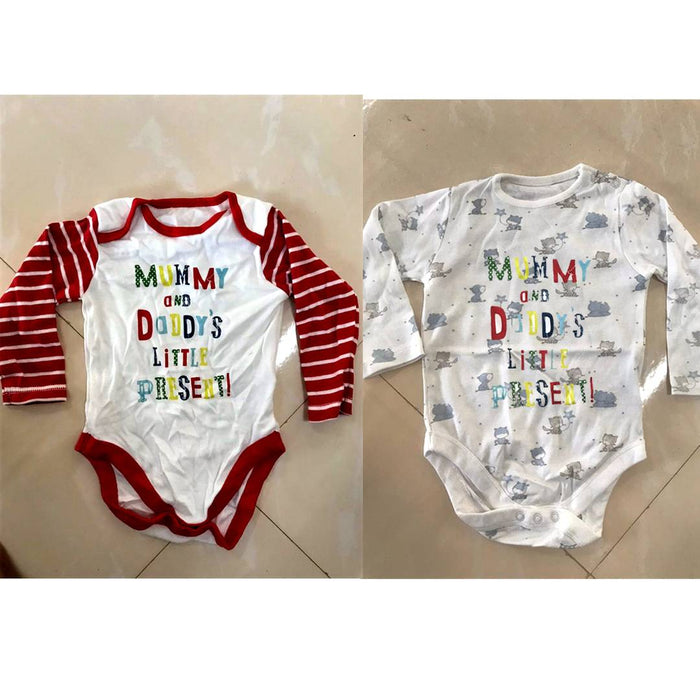 Baby Boy's and Baby Girl's Multicoloured Cotton Printed Bodysuits/Rompar (Pack of 2)