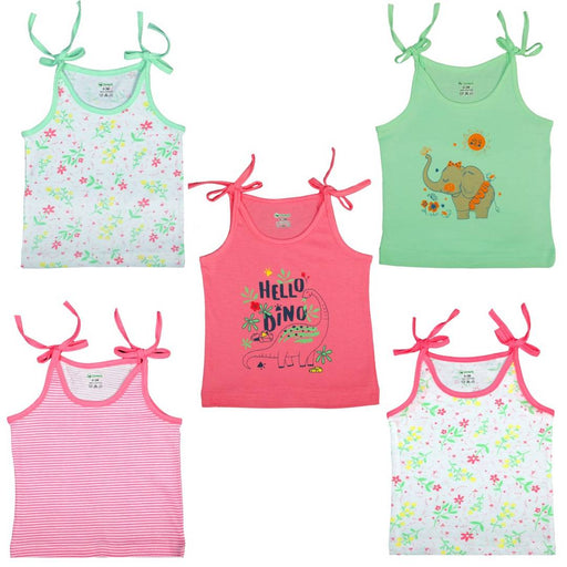 Cute Strap Knot Top For Baby's ( Pack of 5 )