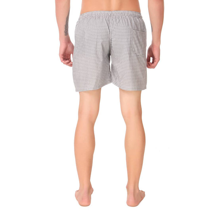 Men'S Cotton Check Shorts Pack Of 2