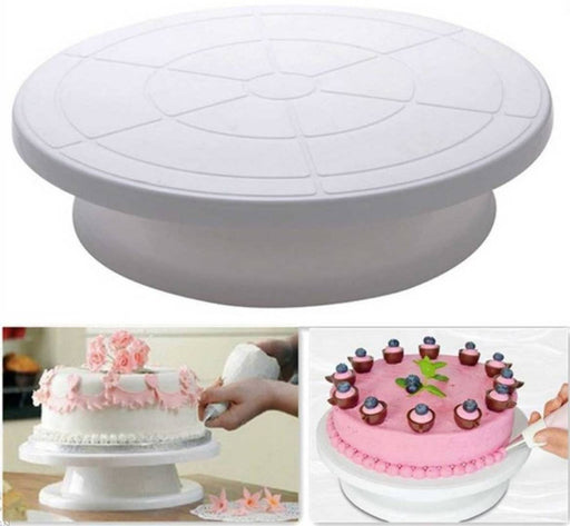 Plastic Cake Decorating Revolving Icing Stand Rotating Turntable