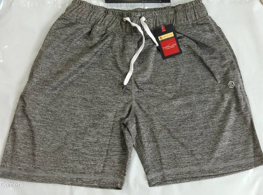 Stylish Cotton Grey Solid Regular Shorts For Men