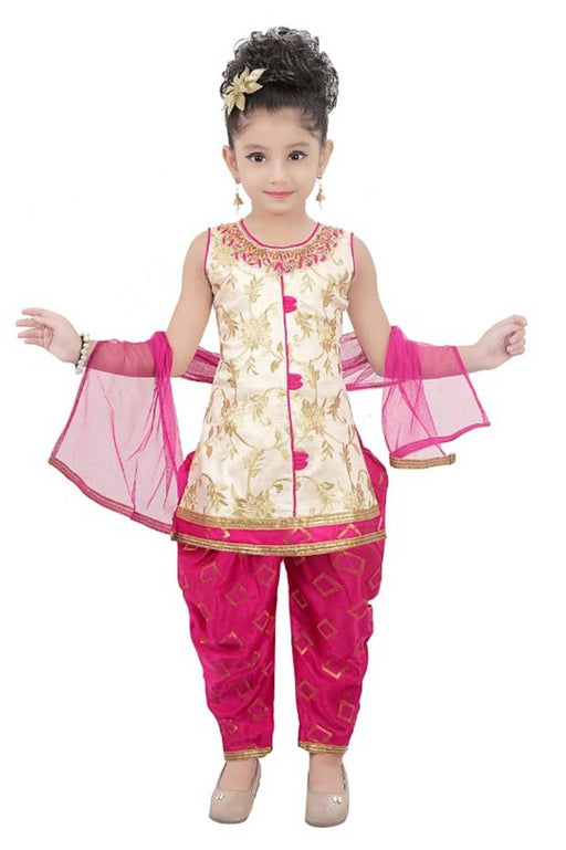 Adorable Jaquard Salwar Suit With Dupatta For Girls