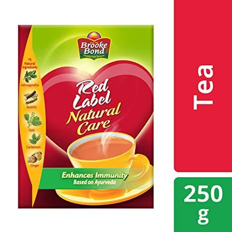 Brooke Bond Red Label Natural Care Tea (Carton) - 250 g