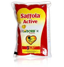 Saffola Active Vegetable Oil - 1L (Pouch)