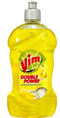 Vim Dish Wash Double Power Concentrated Gel - Lemon