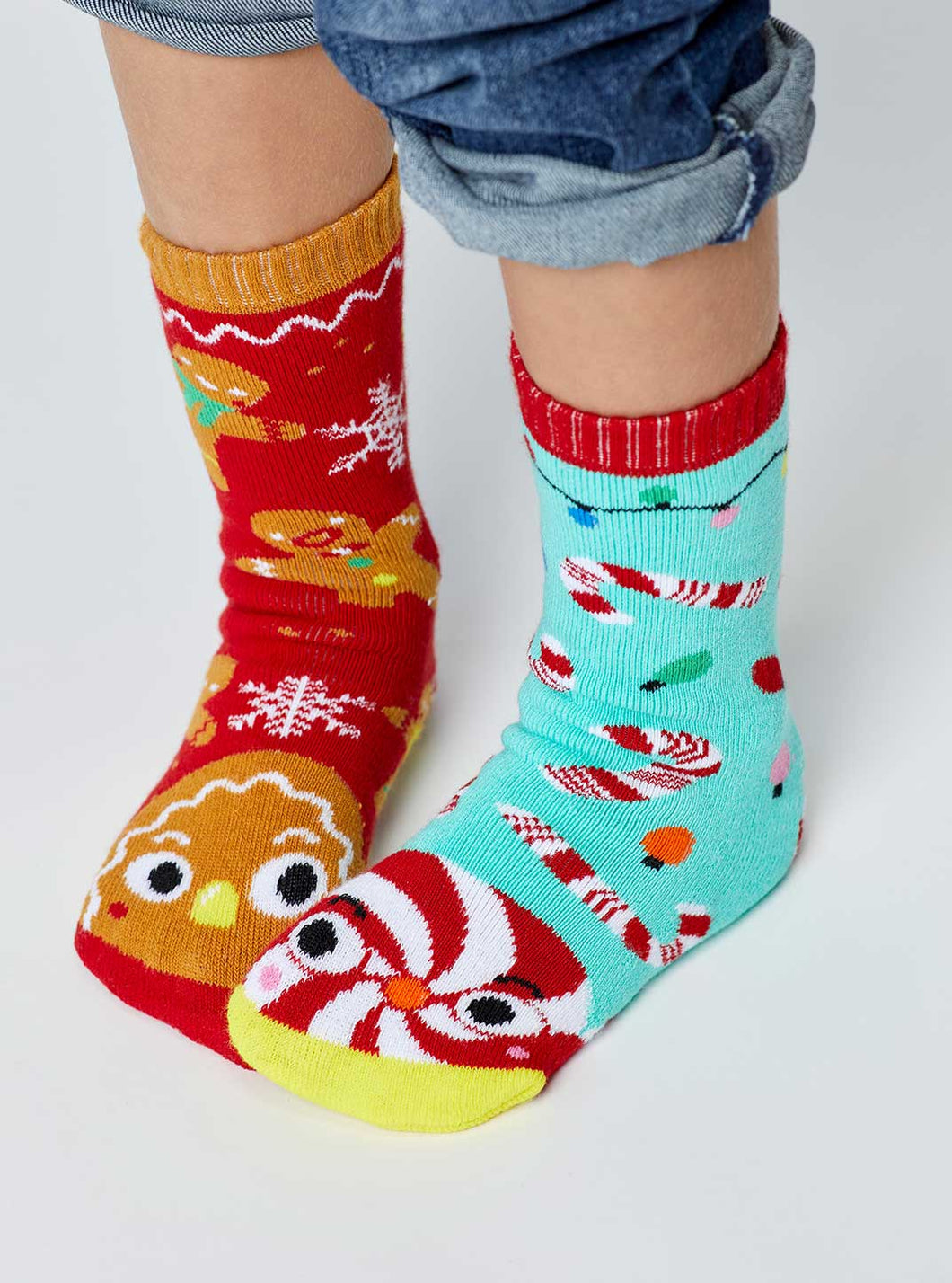 Gingerbread & Candy Cane | Mismatched Socks 4-8