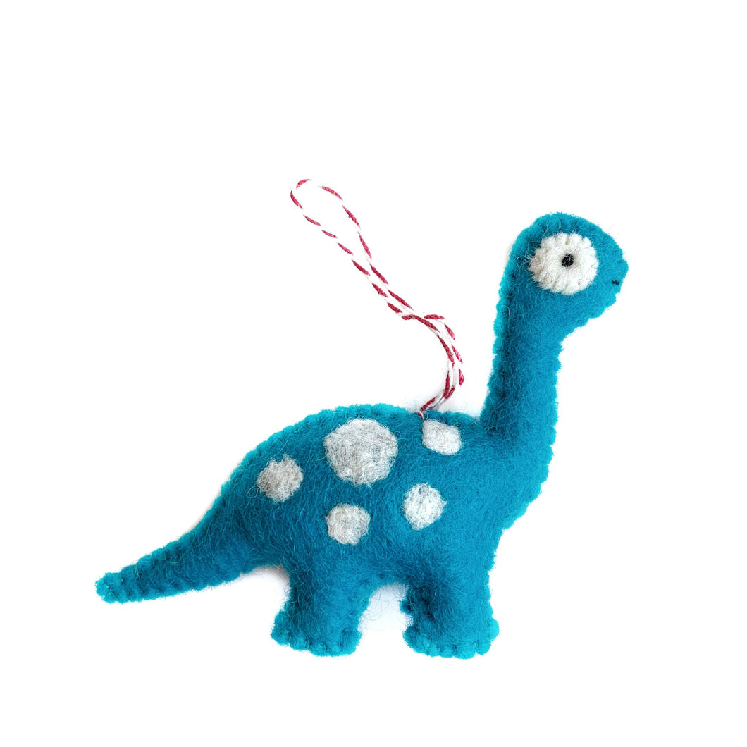 Brachiosaurus Felt Wool Ornament
