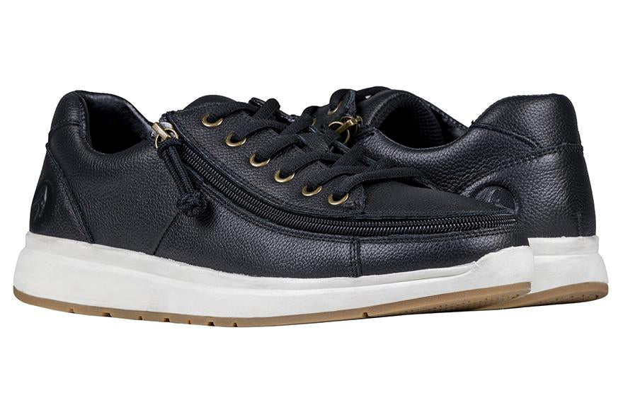 Black Leather BILLY Comfort Low- Wide