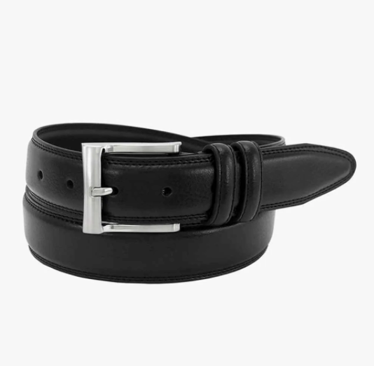 Martin Pebble Grain Leather Belt-Black