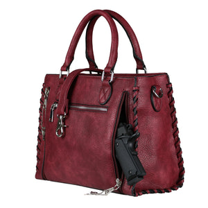 Concealed Carry Purse - Locking Laced Ann Satchel