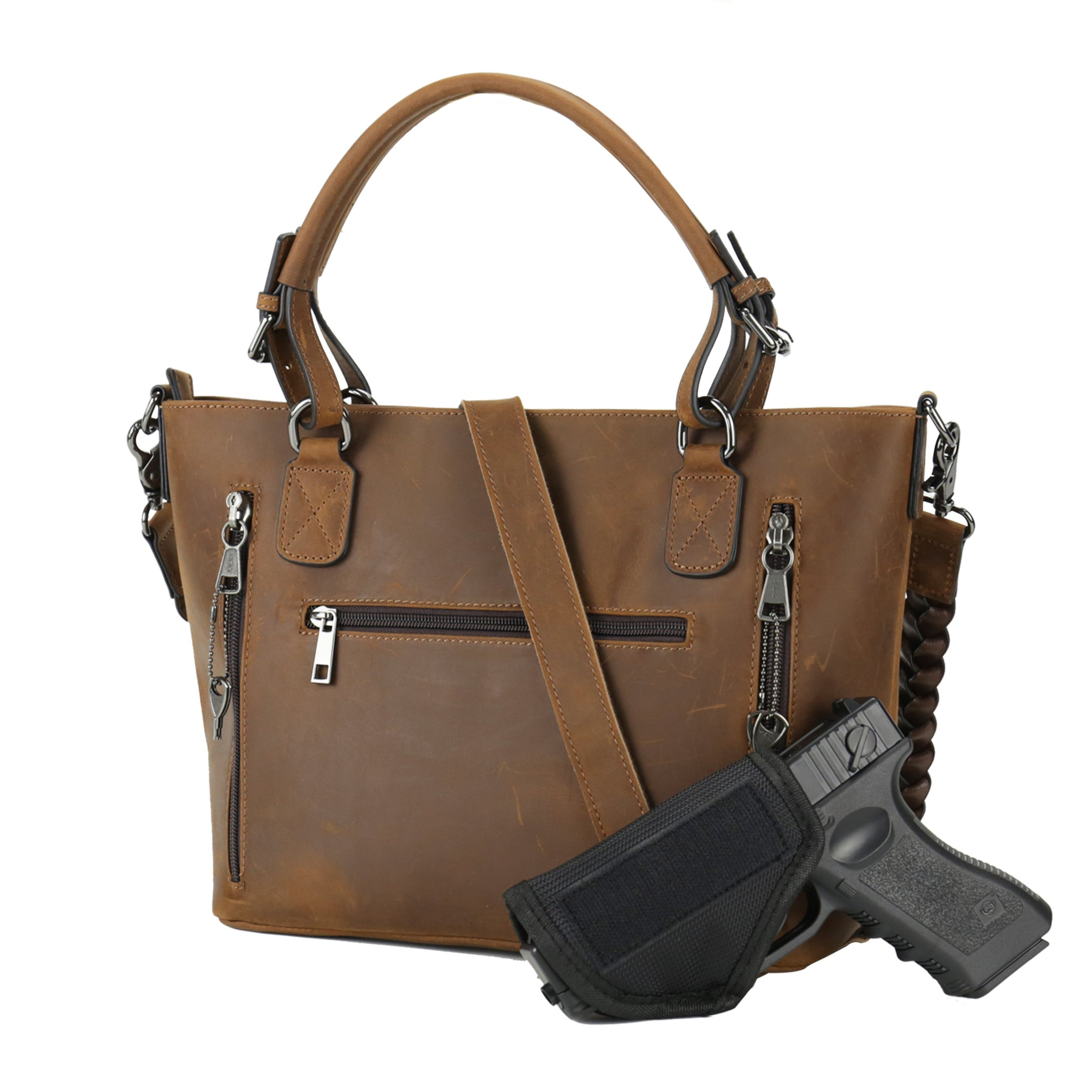 Concealed Carry Bailey Leather Satchel