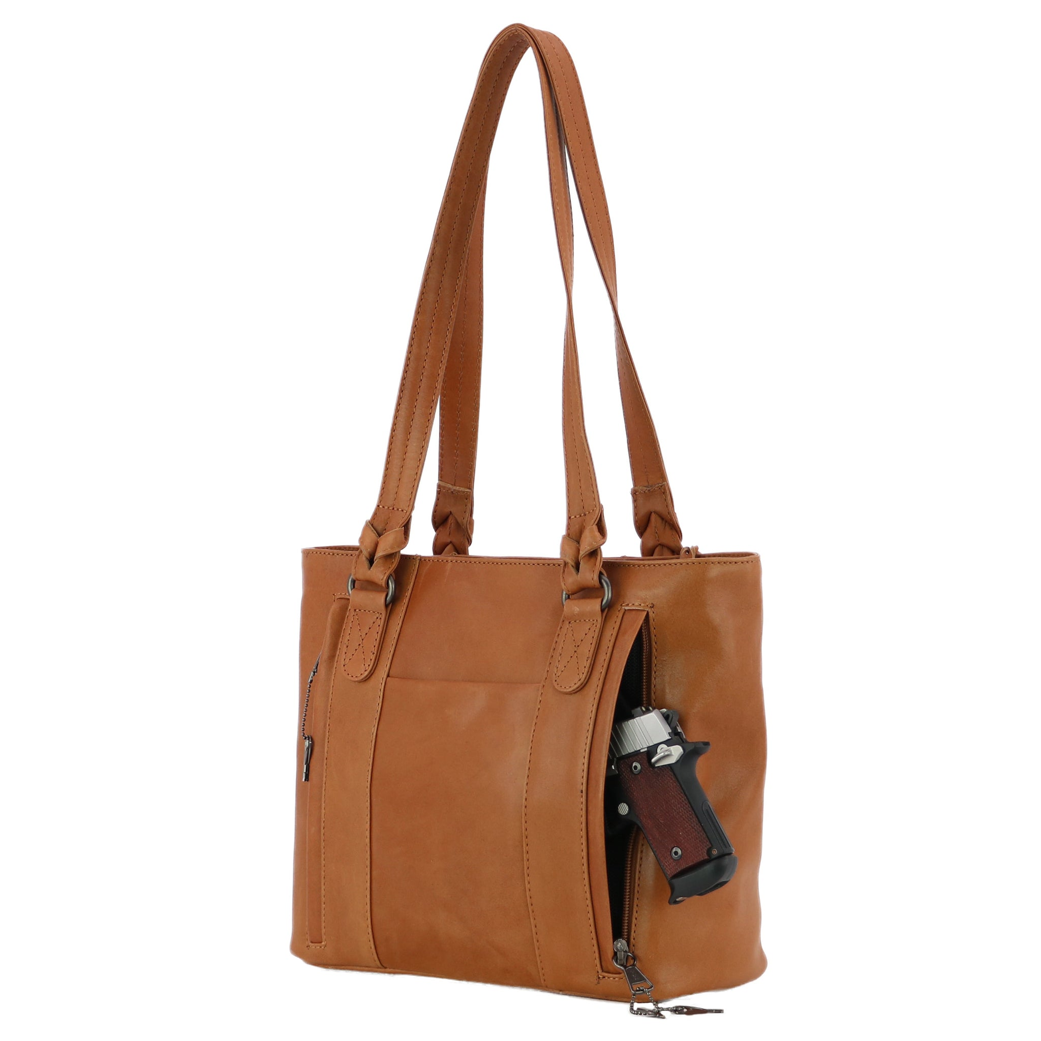 Concealed Carry Peyton Leather Tote