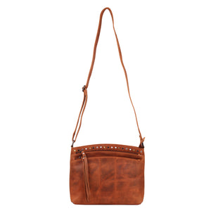 Concealed Carry Brynn Arched Leather Crossbody