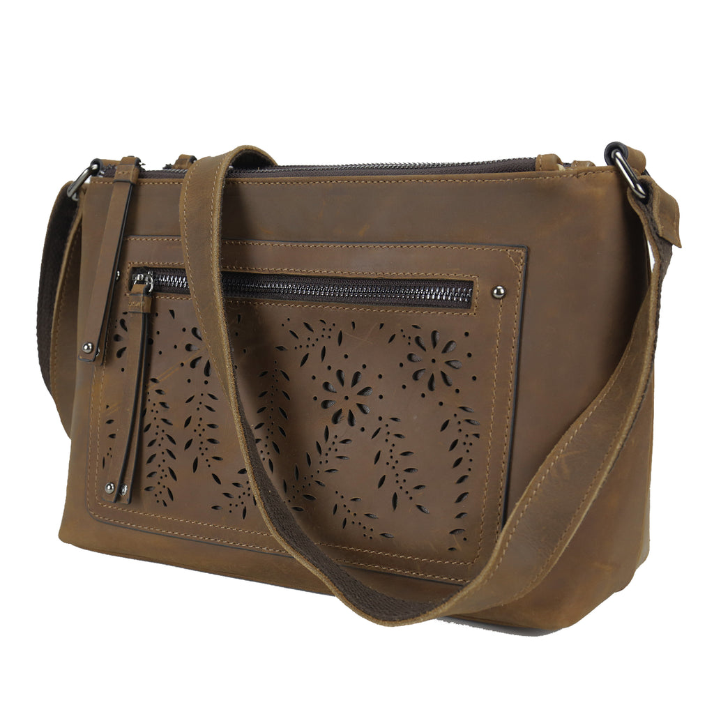 Concealed Carry Brynlee Distressed Leather Crossbody