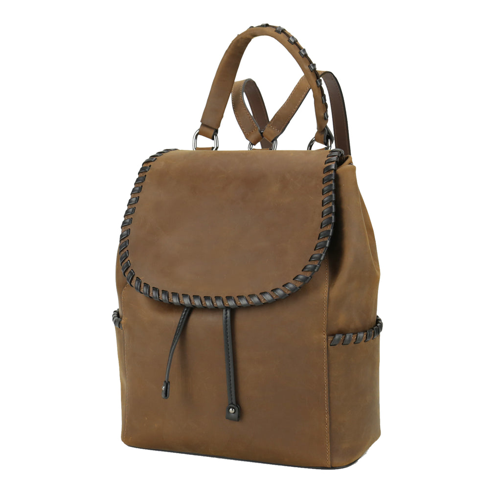 Concealed Carry Allie Leather Backpack