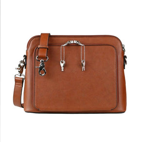Concealed Carry Evelyn Leather Crossbody Organizer