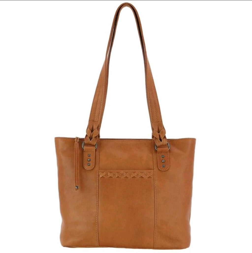 Concealed Carry Tote Purse by High Caliber Handbag in Cinnamon