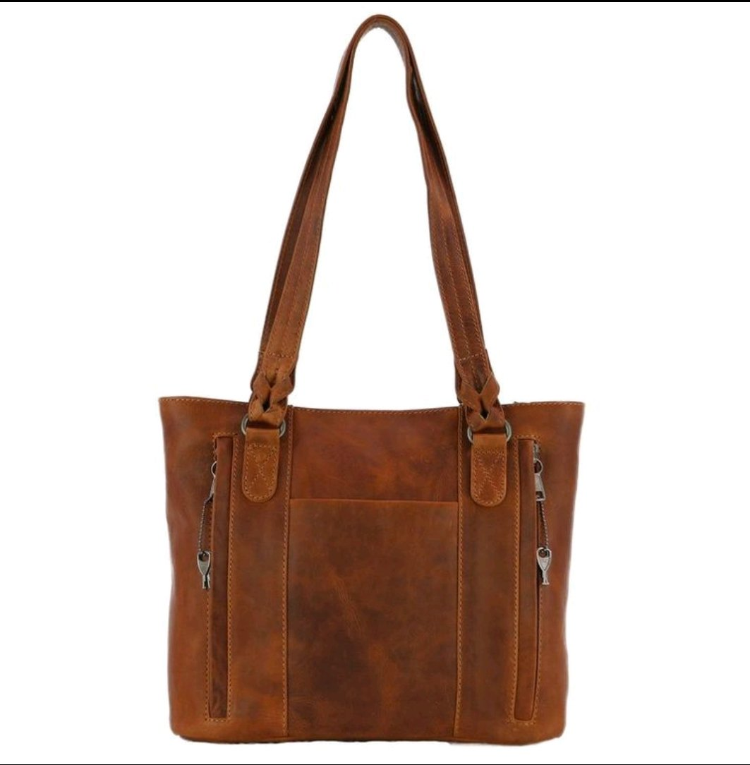 Concealed Carry Tote Purse by High Caliber Handbag Leather