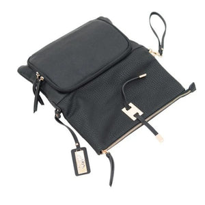 Opened Black concealed carry crossbody clutch aya