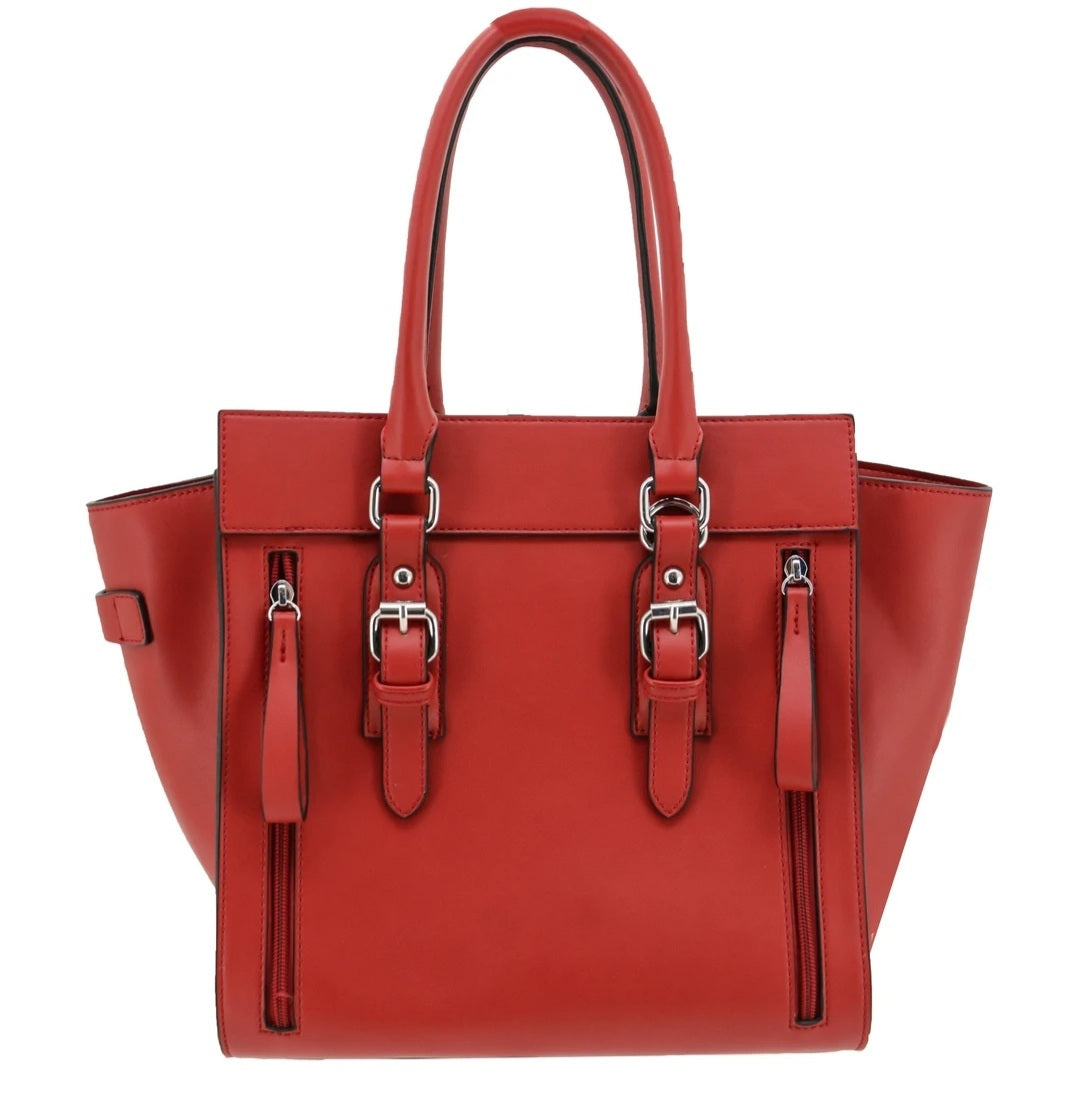 Aphaea concealed Carry satchel handbag in a luxurious red